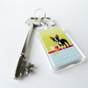 Boston Terrier Keyring Take away food