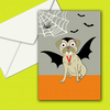 Halloween Pug Note Card Vampire Themed With Envelope