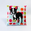Boston Terrier Mini Cushion Circle Pattern