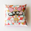 Chihuahua Mini Cushion with Mustache & Tessellation