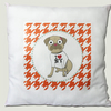Pug Cushion, Houndstooth, New York