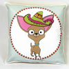 Chihuahua mini Cushion With Sombrero