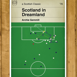 Football Book Cover Poster - Scotland - Archie Gemmill goal v Holland 1978 - A3