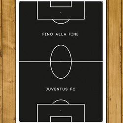 Juventus - Fino Alla Fine - Pitch Perfect Football Poster - A3