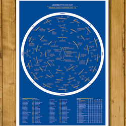 Leicester City Star Chart - Premier League Champions Poster - A3