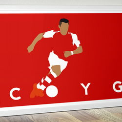 Alexis Sanchez for Arsenal  - COYG Poster - Football Poster - A3