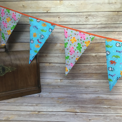 Bunting  elephants, crocodiles  and wriggly creatures