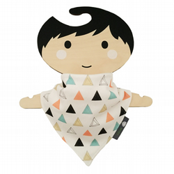ORGANIC Baby Bandana Dribble Bib in PRISM TRIANGLES - A GIFT IDEA from BellaOski
