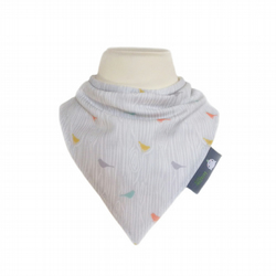 ORGANIC Baby Bandana Dribble Bib in WOODGRAIN BIRDS  A Gift Idea from BellaOski