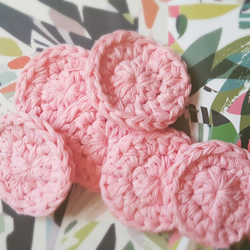 Pack of 10 small cotton rounds