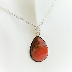 Poppy Jasper Pendant Necklace