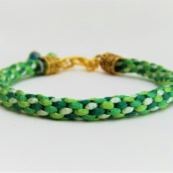 """Emerald City"" Handwoven Bracelet"