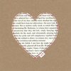 Upcycled Jane Eyre Valentine's Card (Reduced Price)
