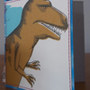 Upcycled Dinosaur Card, One-Of-A-Kind (149)