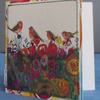 Christmas Robins, Upcycled Brian Wildsmith (1969) Birds Card, One-Of-A-Kind (5)
