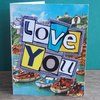 1960s Newquay 'Love You' Card, With Vintage (1940) Envelope, One-Of-A-Kind (341)
