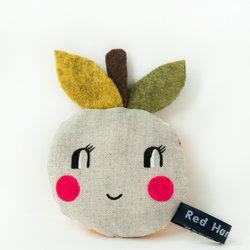 'Happy Apple'  pocket pals - Pink cheeks