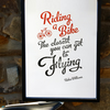 Robin Williams tribute cycling print