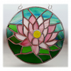 Waterlily Suncatcher Stained Glass 002 Pink