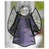 RESERVED Angel Suncatcher Stained Glass purple Christmas 008