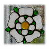 Yorkshire Rose Suncatcher Stained Glass 037