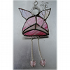 Fairy Godmother Stained Glass Suncatcher Pink 011