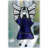 Angel Suncatcher Stained Glass Purple Heart Handmade 019