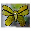 Butterfly Stained Glass Suncatcher Yellow 059