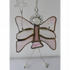 Fairy Angel Suncatcher Stained Glass Pink 021