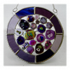 Summer Berry Pie Suncatcher Stained Glass Abstract Handmade fused 003