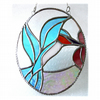 Kingfisher Picture Stained Glass Suncatcher Bird Hummingbird 015