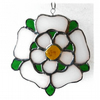 Yorkshire Rose Suncatcher Stained Glass 056