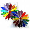 Rainbow Flower Stained Glass Suncatcher 058 or 059