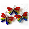 Rainbow Butterfly Suncatche Stained Glass Crystal Head