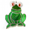 Frog Suncatcher Stained Glass Handmade 050