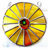 Sunny Yellow Suncatcher Stained Glass Handmade Colour Wheel 002