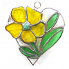 Primrose Heart Suncatcher Stained Glass 006