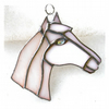 Horse Suncatcher Stained Glass Horsehead White 105