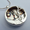 Hare and Moon Sterling Silver Pendant