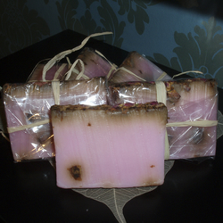 Handmade Soap Rose and Rose Petals