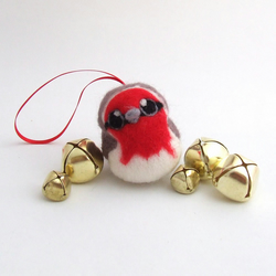 NeedleFelted Robin Bird Christmas Tree Decoration