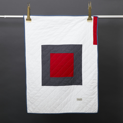Special Offer Little Centre Square Red Quilt