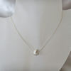Sterling Silver Clam Shell Cut Bead & Hand Made Chain Necklace