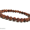 Sparkly Brown Goldstone Sandstone Beads Bracelet