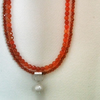 Handmade Orange Agate and Silver Necklace - (Reserved for Janina)