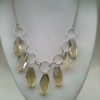 Silver and Lemon Quartz Necklace