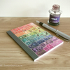 Rainbow Address Book, Postage Stamp Print - A6 Birthday Book, Month Planner