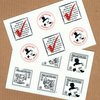 Fast-As-You-Can Courier Company - Fairy tale faux postage mini-sheets- 12 artist