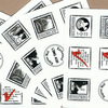 CLEARANCE Fairy tale faux postage mini-sheets - 12 artistamps, stickers, envelope seals