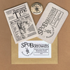 Society for the Preservation of Borrowers - member card, micro zine & badge
